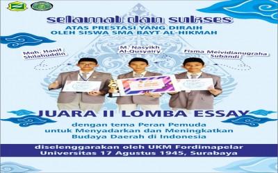 JURNAL PRESTASI SMK-SMA BAYT AL-HIKMAH