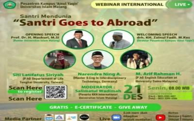 """Membangkitkan Semangat Santri untuk Study Lanjut ke Luar Negeri dengan Webinar """"Santri Goes To Abroad"""""""